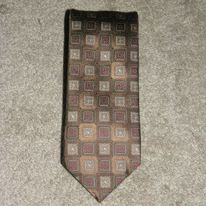 Canali Brown Label Medallion Classic Width Tie